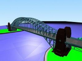 Tied-arch bridge 3d preview