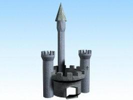 Medieval castle gatehouse 3d preview