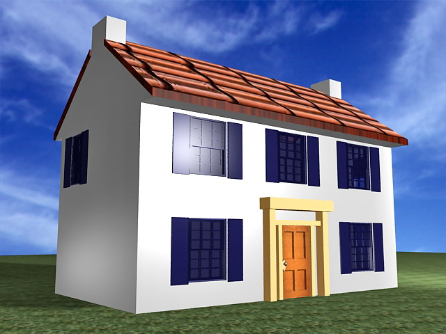 Old country house 3d rendering