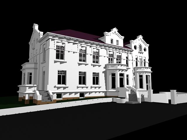 Mansion house 3d rendering