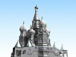Moscow Kremlin architecture 3d preview