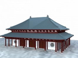 Great Buddha Hall 3d model preview