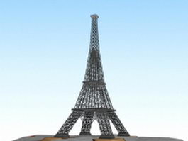Eiffel Tower 3d model preview