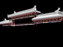 Chinese ancient building eaves 3d preview