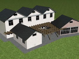 Vacation cottage 3d model preview