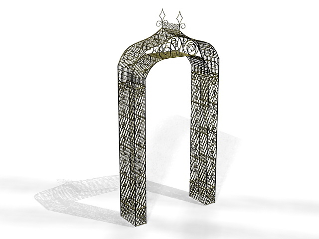 Decorating garden arch 3d rendering