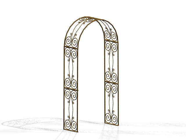 Ornamental arch 3d rendering