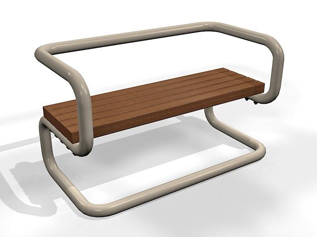 Bench stree furniture 3d rendering