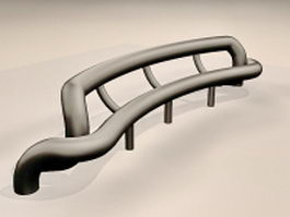 Steel tube bench 3d preview