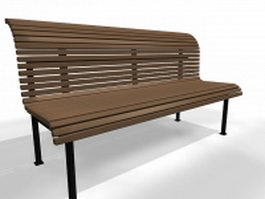 Outdoor park bench 3d preview