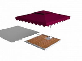 Patio umbrella 3d preview