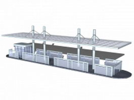 Station bus shelter 3d preview