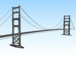 Suspension bridge 3d preview