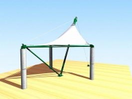 Patio shade sail 3d preview