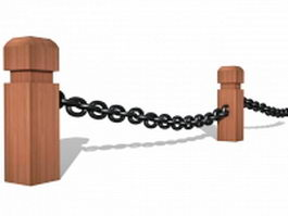 Safety chain barrier 3d preview
