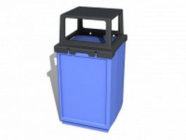 Waste rubbish bin 3d preview