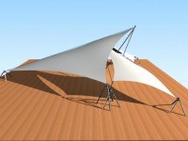 Tensile fabric structure 3d preview
