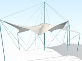 Tensile canopy 3d preview