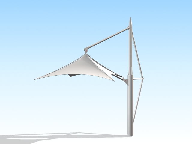 Tensile umbrella 3d rendering