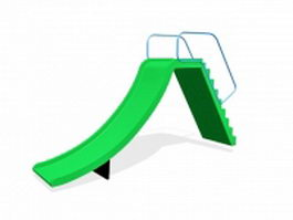 Kids outdoor play slides 3d model preview
