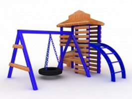 Outdoor playground toy 3d model preview