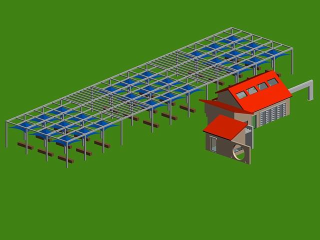 Landscape plaza canopy structure 3d rendering