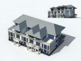 Modern town house 3d preview