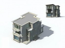 Mansion modern house 3d preview