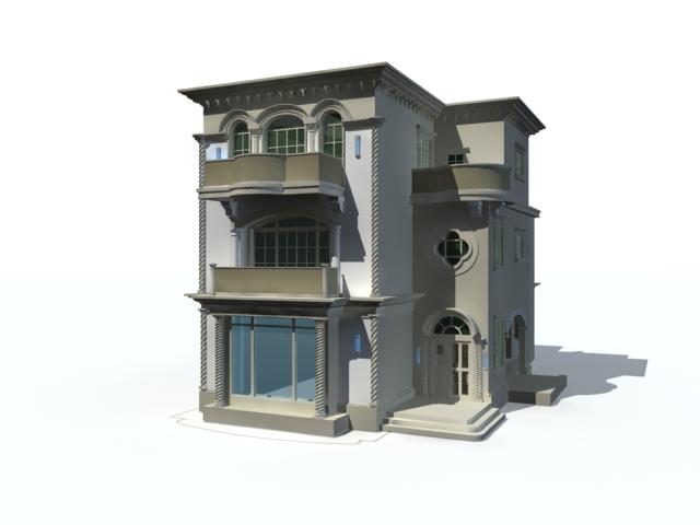 Mansion modern house 3d rendering