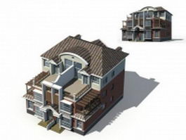 Three storey townhouse 3d preview