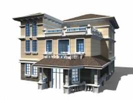 Modern Chinese house 3d preview