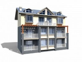 English townhouse 3d preview