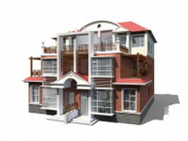 Modern townhouse units 3d preview