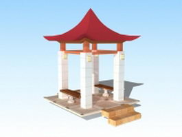Garden pavilion 3d preview