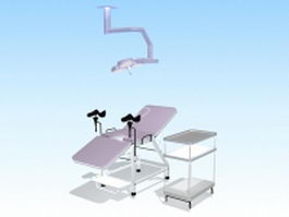 Gynecological examination equipment 3d preview