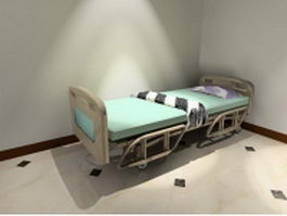 Wheeled hospital bed 3d preview
