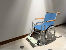 Modern lightweight wheelchair 3d preview