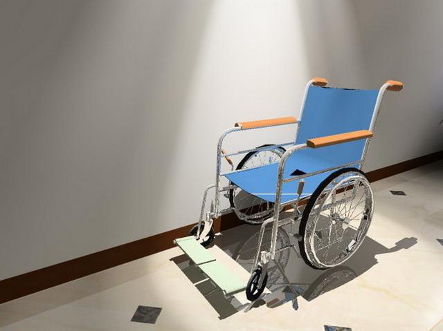 Modern lightweight wheelchair 3d rendering