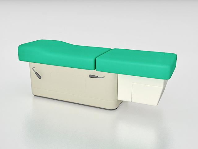 Medical exam table 3d rendering