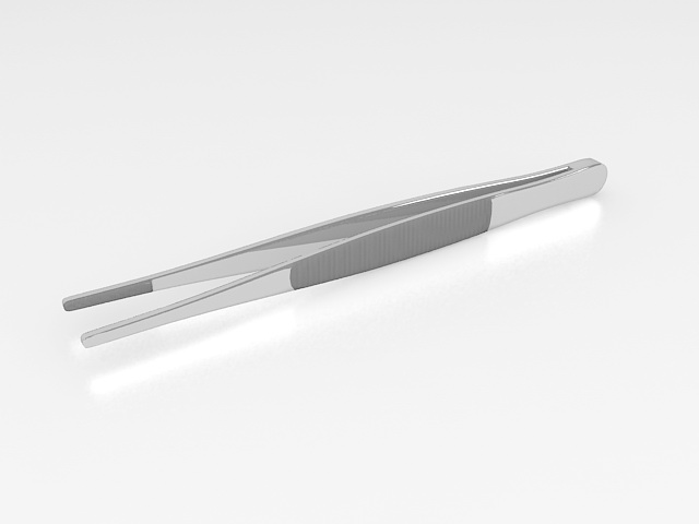 Thumb forceps 3d rendering