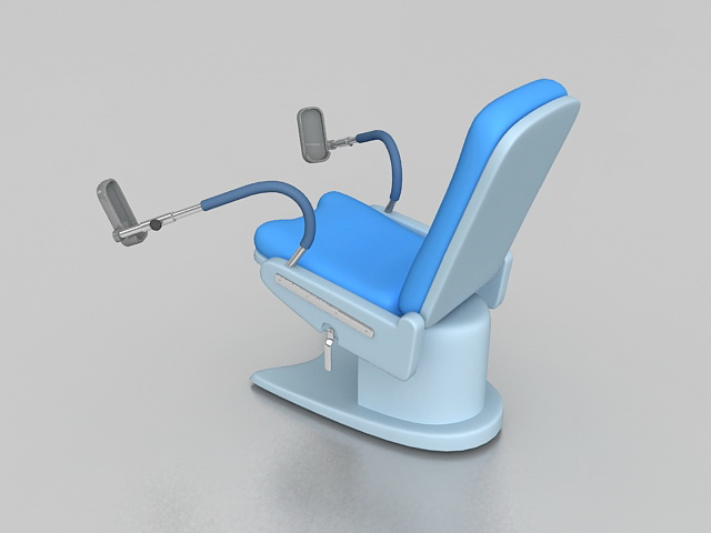 Gynae examination chair 3d rendering