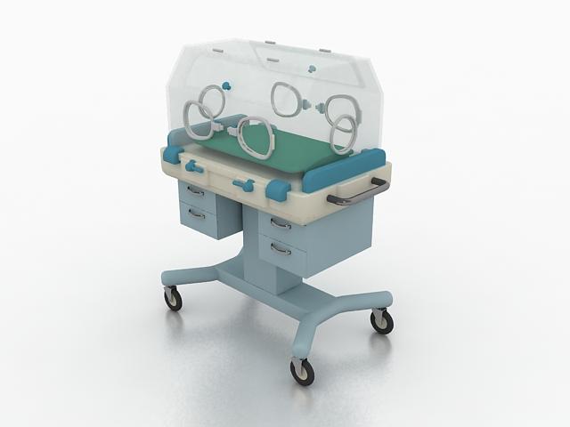 Neonatal incubator 3d rendering