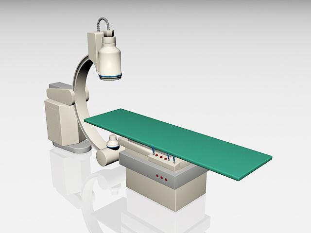 Medical radiation equipment 3d rendering