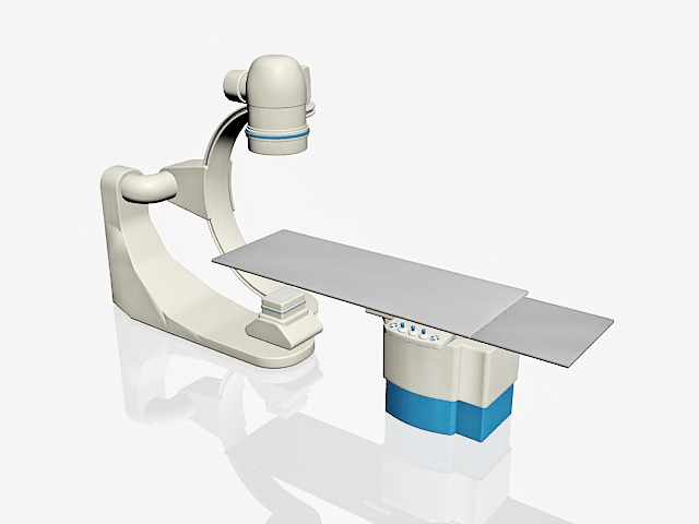 Radiation therapy machine 3d rendering