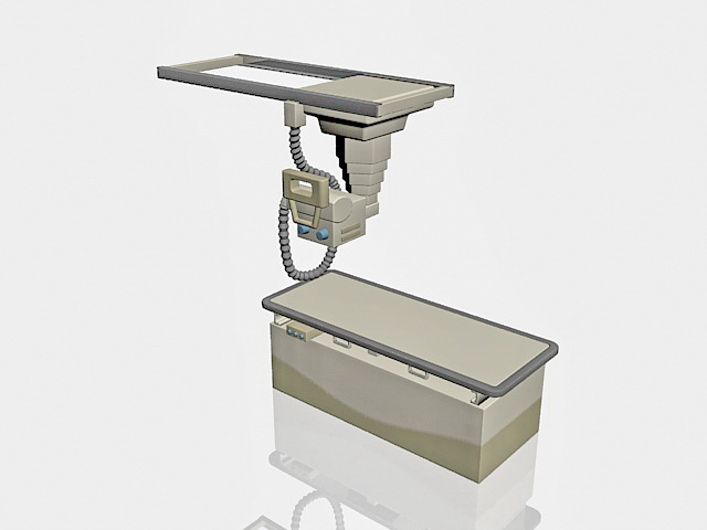 X-ray machine 3d rendering