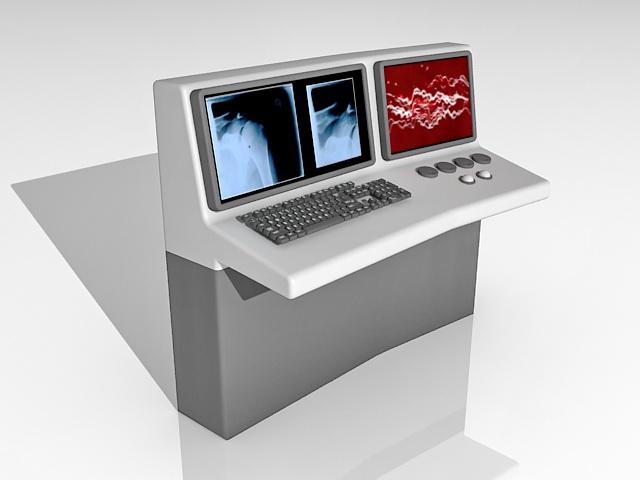 Ultrasound diagnostic machine 3d rendering
