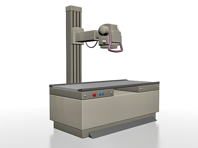 Radiography machine 3d rendering