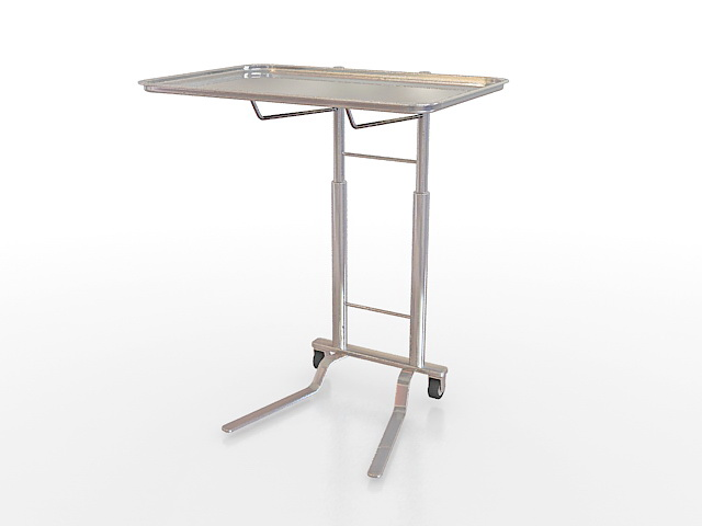 Medical instrument tray stand 3d rendering