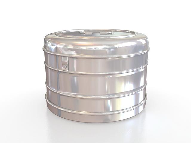 Medical sterilizing drum 3d rendering