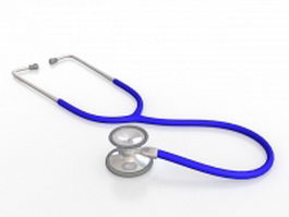 Blue stethoscope 3d preview
